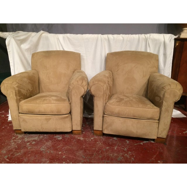 French Art Deco Club Chairs - A Pair For Sale - Image 6 of 6