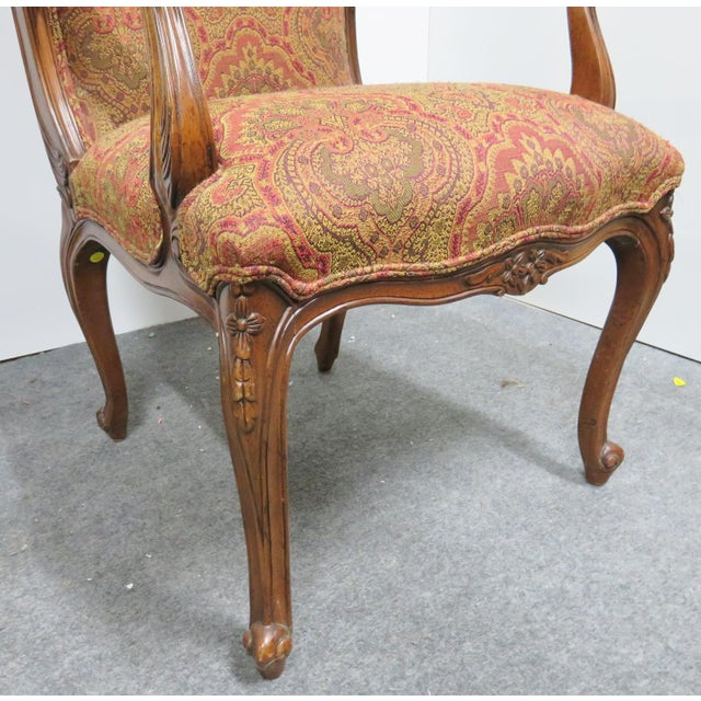 Louis XV Carved Walnut Chairs by EJ Victor - a Pair For Sale In Philadelphia - Image 6 of 8