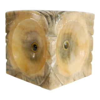 Alabaster Owl Bookend For Sale