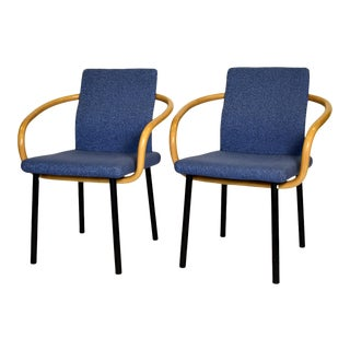 1980s Ettore Sottsass for Knoll Mandarin Chairs - a Pair For Sale