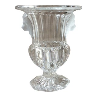 French Crystal Vase, Urn Form For Sale