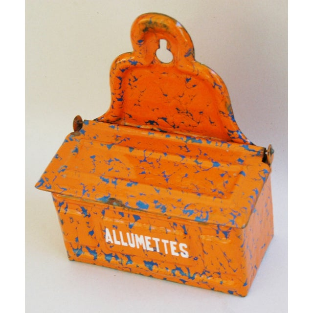 1940s French Enamel Allumettes Holder - Image 3 of 7