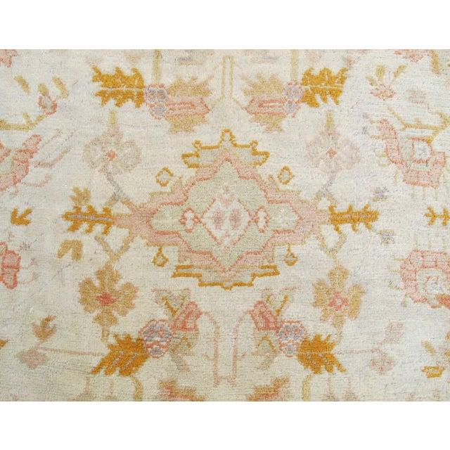 Gold Oversized Oushak Carpet For Sale - Image 8 of 10