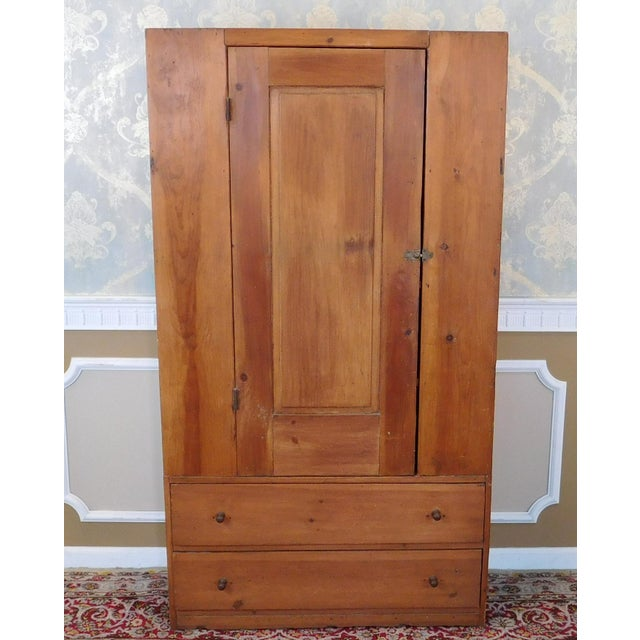 Antique 19th-Century American Pine Cabinet - Image 2 of 11