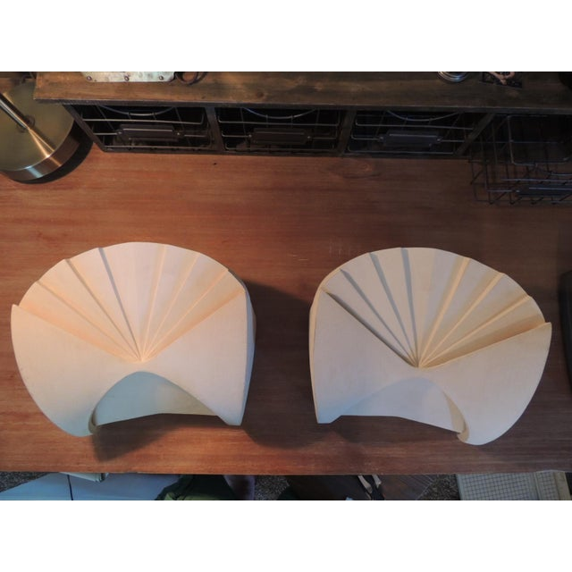 Beautiful pair of lights for someone looking for a Miami Art Deco inspired lighting for their home. These wall lights were...