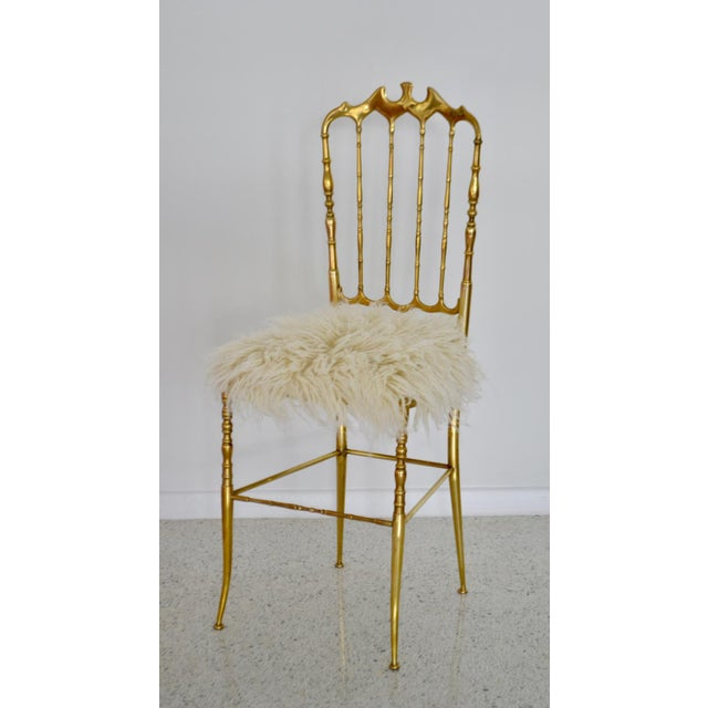 Mid-Century Brass Side Chairs - a Pair For Sale - Image 11 of 13