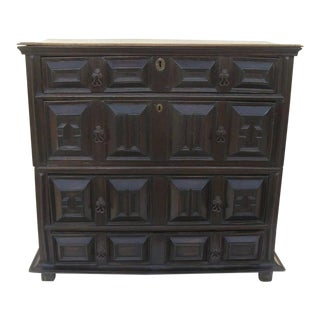17th Century English Oak Chest of Drawers For Sale