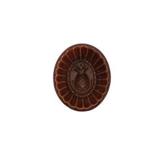 Vintage Pineapple Brown Ceramic Stoneware Pudding Jello Kitchen Mold For Sale