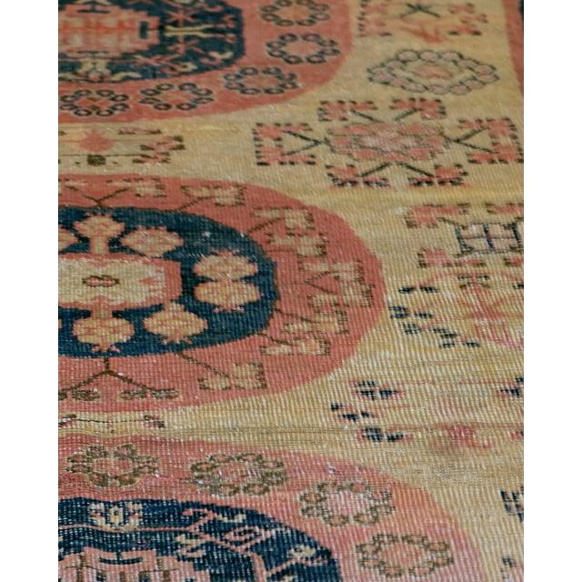 Vintage Handwoven Wool Khotan Rug For Sale - Image 4 of 5