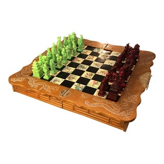 Vintage Folding Japanese Chess Board For Sale