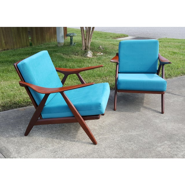 1960s 1960s Danish Modern Hovmand Olsen Lounge Chairs - a Pair For Sale - Image 5 of 13