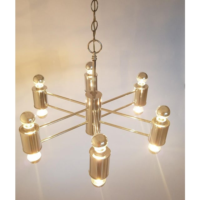 Silver Mid-Century Modern Sciolaris Chrome Chandelier For Sale - Image 8 of 12
