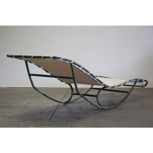 1950s Early Walter Lamb Bronze Rocking Chaise For Sale - Image 5 of 13