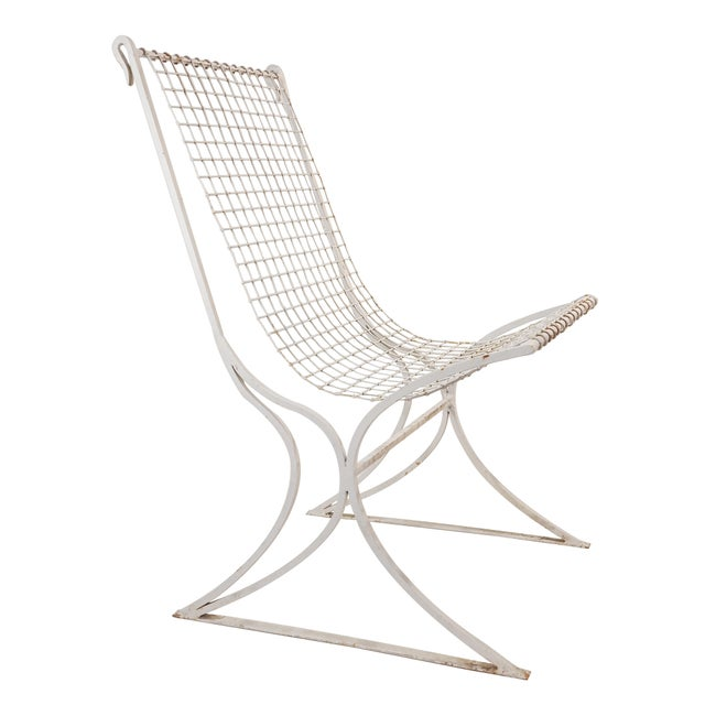 Metal Salterini Mid-Century Modern White Metal Chairs - Set of 4 For Sale - Image 7 of 13