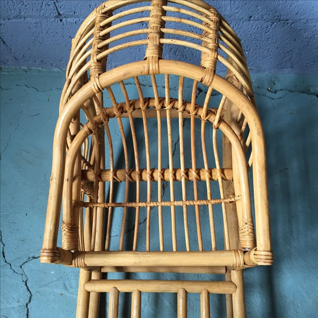 Vintage Child's Rattan Rocking Toy - Image 8 of 11