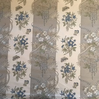 Bennison Singapore Striped Fabric For Sale