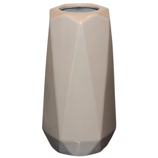 Taupe Modern Ceramic Vase For Sale