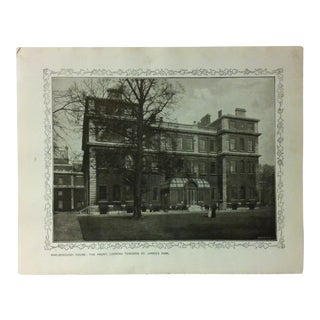 """1906 """"Marlborough House - the Front - Looking Towards St. James's Park"""" Famous View of London Print For Sale"""