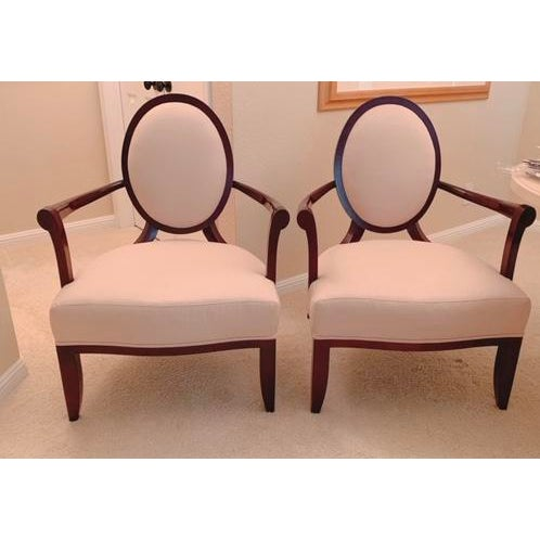 Barbara Barry Oval X-Back Chairs for Baker Furniture - a Pair For Sale - Image 9 of 9