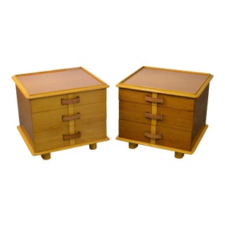 "Paul Frankl for Johnson Furniture Pair ""Station Wagon Nightstands"" - A Pair For Sale"