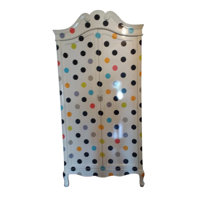 Contemporary Polka Dot Armoire - Image 1 of 4