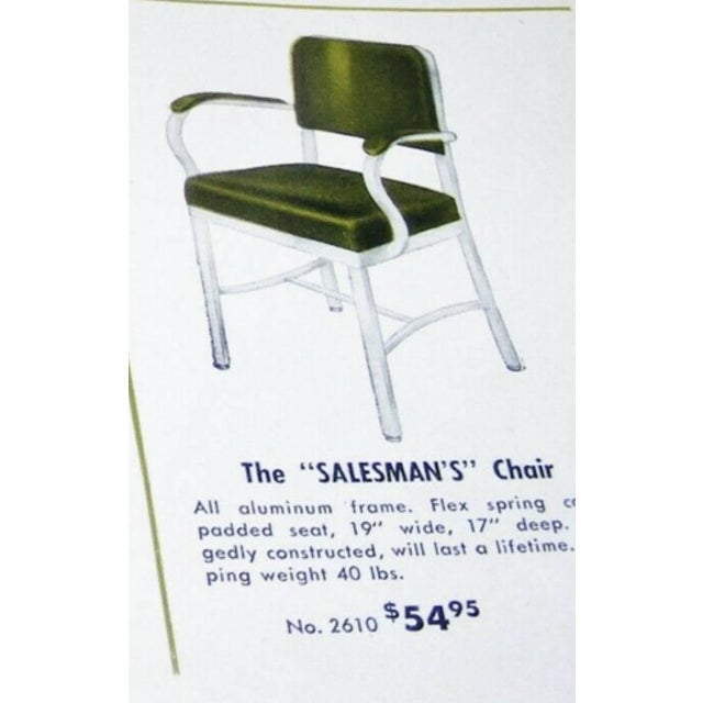 Green Mid-Century Industrial Office Chair by Cole-Steel ~ a Pair For Sale - Image 8 of 10