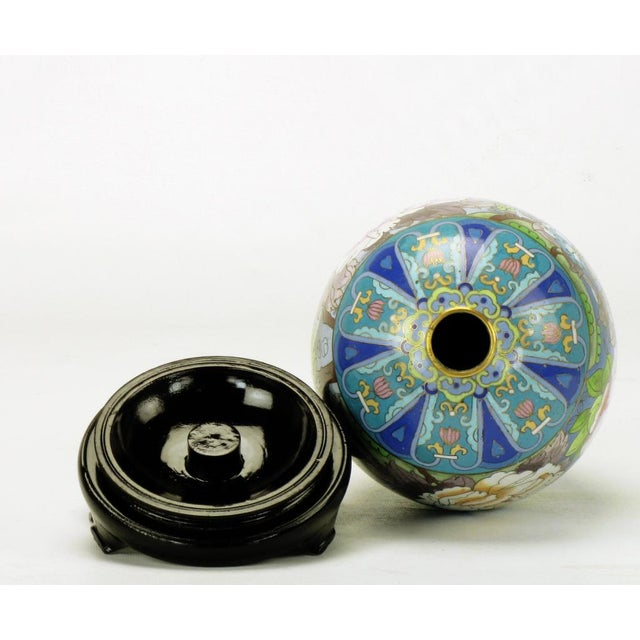 """Pair 11.5"""" Colorful Cloisonne Eggs For Sale - Image 10 of 11"""