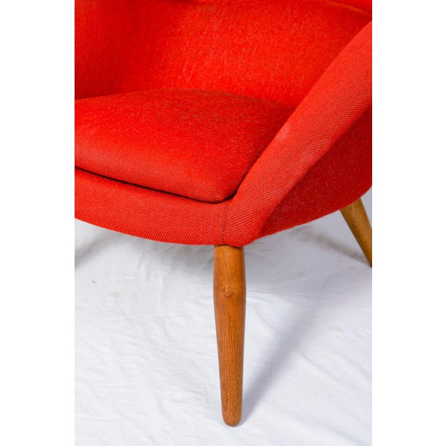 """Red Nanna Ditzel """"Oda"""" Lounge Chair For Sale - Image 8 of 9"""