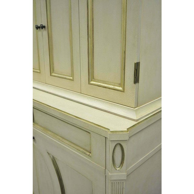 French Neoclassical Louis XVI Style Cream & Gold Painted Bar Cabinet by Decca A For Sale - Image 9 of 11