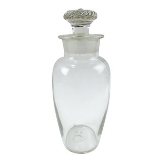 Antique Mold Blown Glass Apothecary Jar For Sale