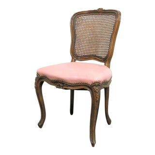 Louis XV Style Floral Carved Walnut Side Chair For Sale