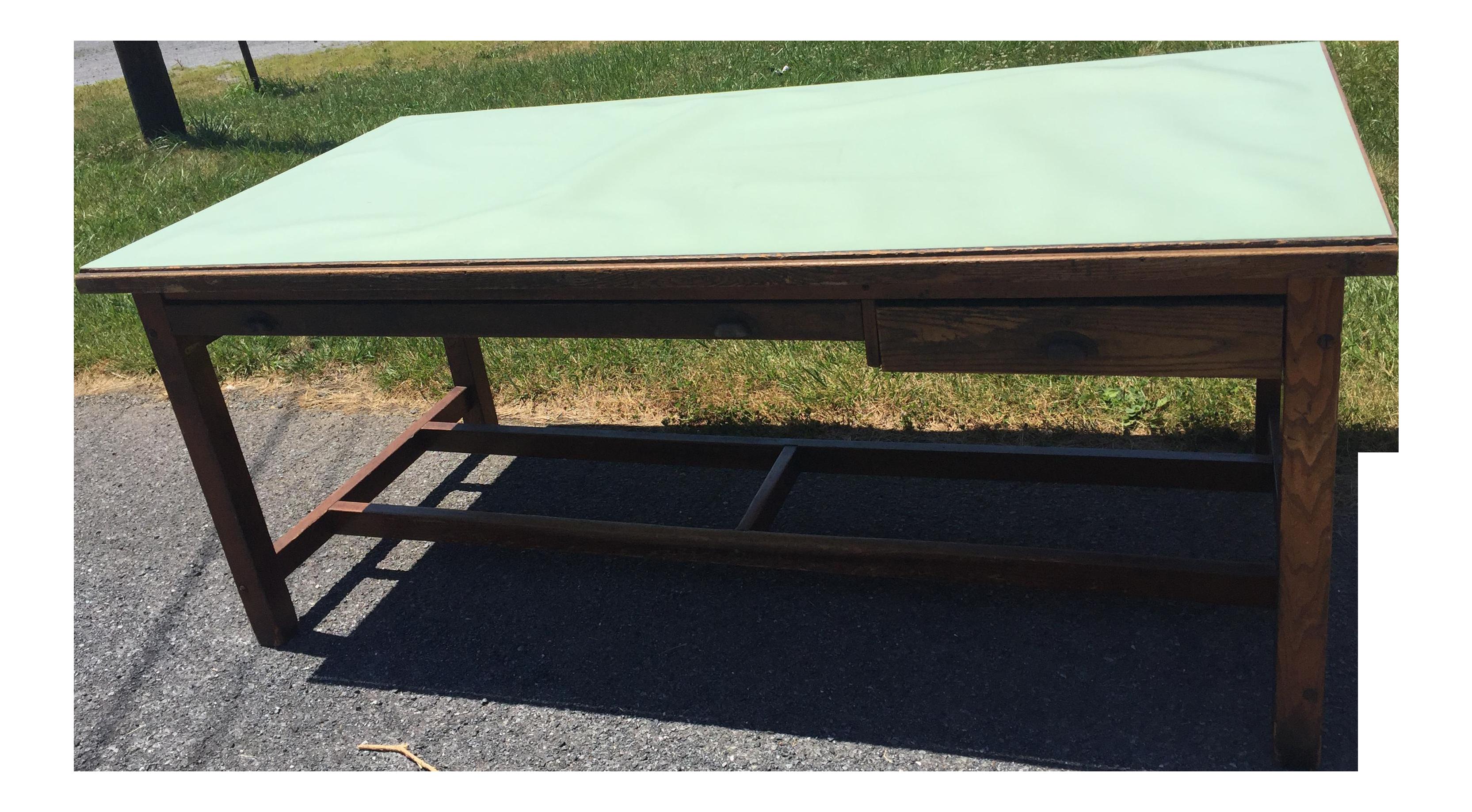 Vintage Industrial Hamilton Economy Wood Drafting Table