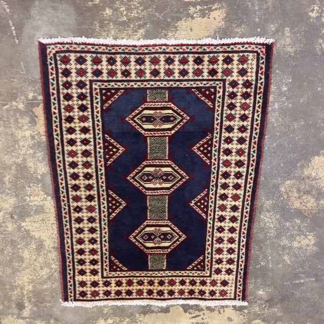 "Turkaman Handmade Persian Rug - 2'1"" X 2'8"" - Image 2 of 9"