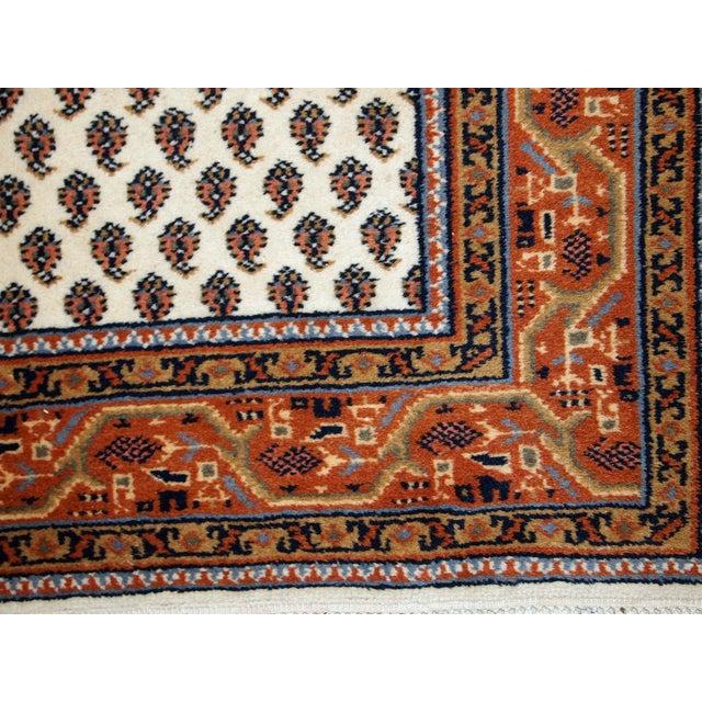 Vintage Handmade Indian Seraband Style Rug - 4′ × 5′8″ - Image 3 of 10