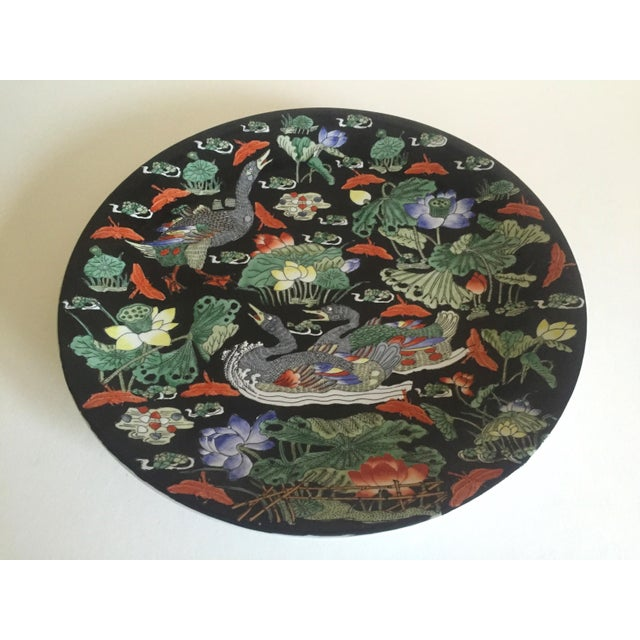 Vintage Asian Swan Platter - Image 5 of 8