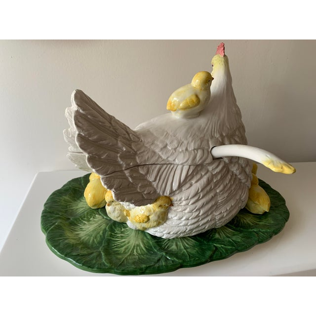 Late 20th Century Intrada Hen Soup Tureen With Baby Chicks, Ladle and Serving Tray - 8 Pieces For Sale In Miami - Image 6 of 13