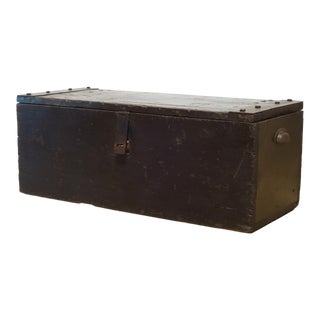 Early 20th C. Wood and Steel Primitive Chest C.1930 For Sale