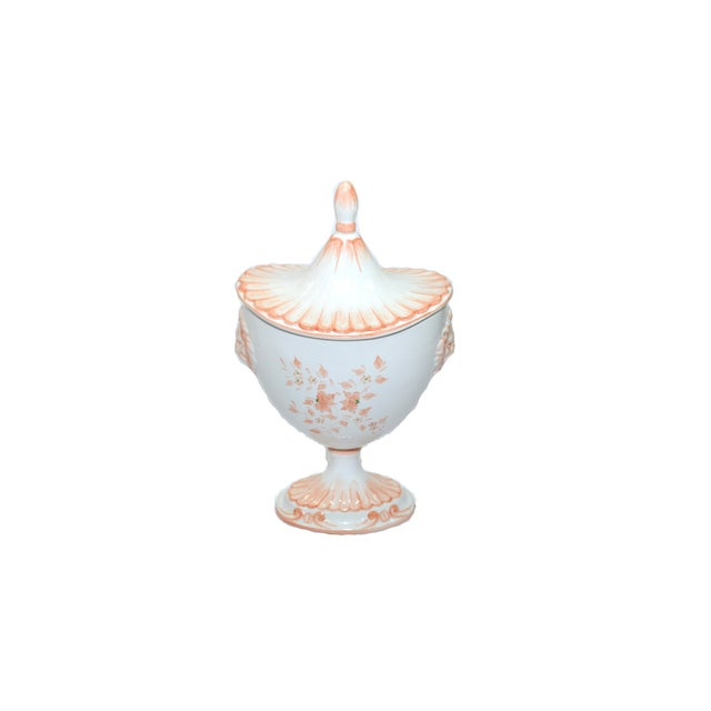This is a beautiful ceramic hand painted compote dish Made in Italy a Nora Fenton Design. This is decorated in beautiful...