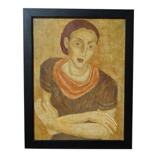 Composition 1936 (Portrait of a Woman) Oil Painting on Canvas For Sale