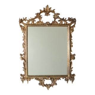 Large Gold Chippendale Rococo Mirror For Sale