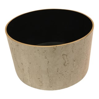 Mid-Century Plastic Marble Patterned Container For Sale