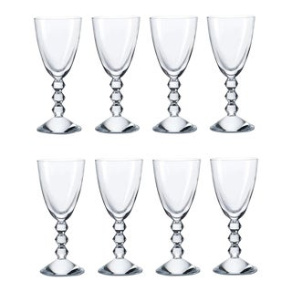 Mint Signed Baccarat French Crystal Cocktail White Wine Stems - Vega - Set of 8 For Sale
