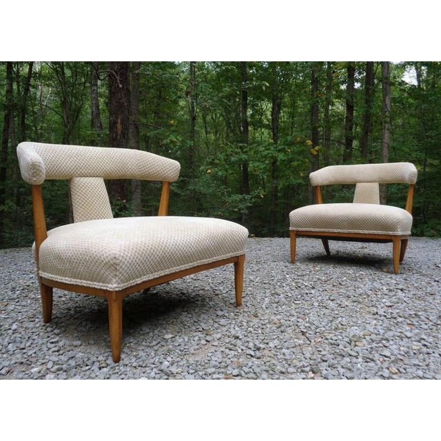 Mid Century Tomlinson Sophisticate Slipper Chairs ~ a Pair For Sale - Image 13 of 13