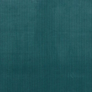 Schumacher Antique Strie Velvet Fabric in Peacock For Sale