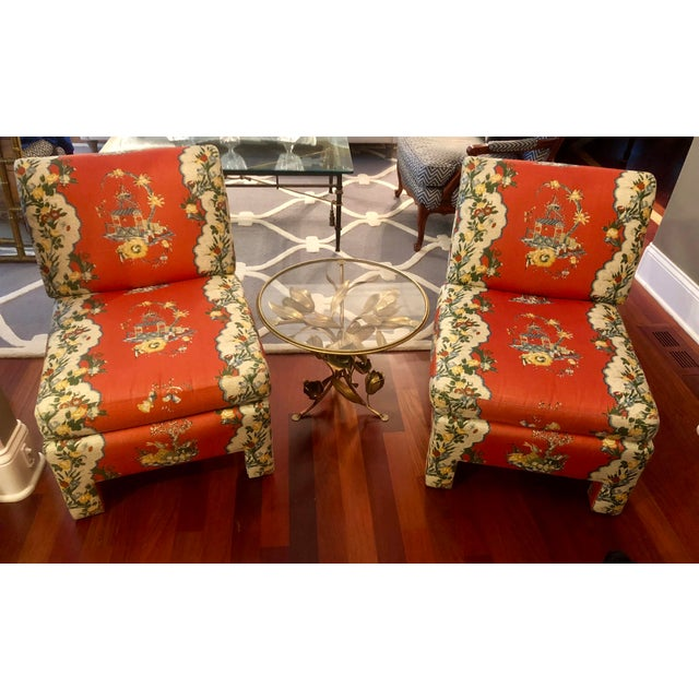 Vintage Chinoiserie Accent Chairs - A Pair For Sale - Image 10 of 11