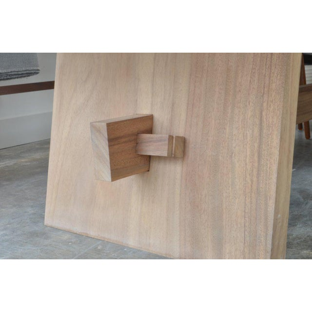 OZ|Shop Monkey Pod Campaign Dining Table For Sale - Image 4 of 6