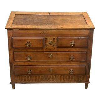 20th Century French Oak and Walnut Bureau For Sale