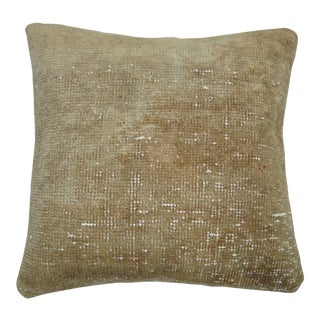 Shabby Chic Turkish Oushak Rug Pillow For Sale
