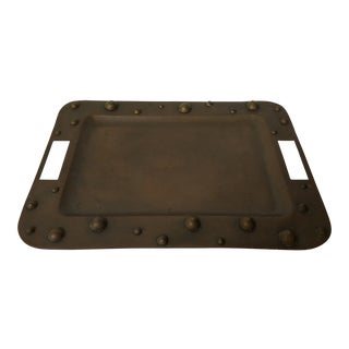 Mexican Solid Copper Tray For Sale