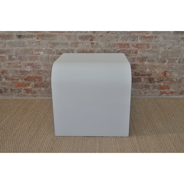 White Laminate Waterfall Table For Sale - Image 4 of 7